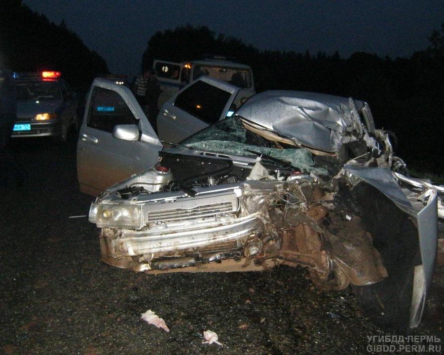 На автодороге Кукуштан — Чайковский погибли два и ранены два человека