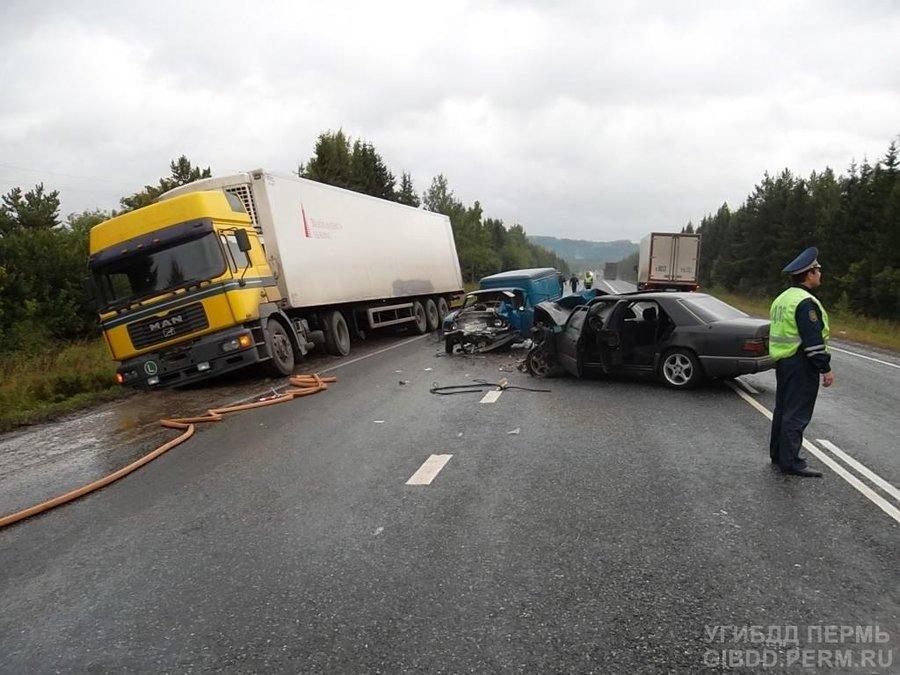 В Нытвенском районе при столкновении с Мерседесом погиб водитель ИЖа