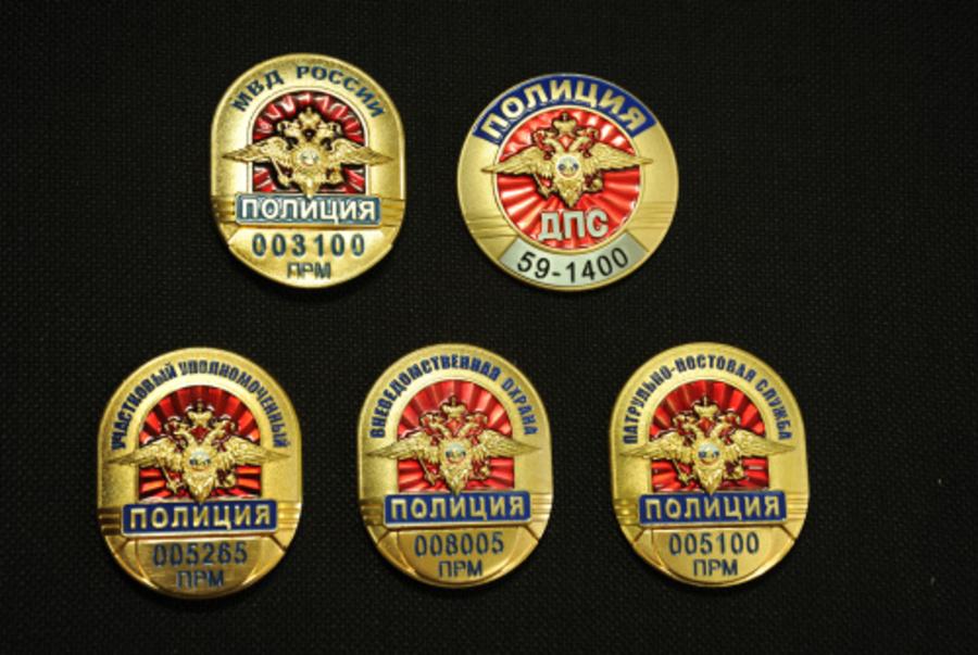Сотрудника полиции в Пермском крае можно опознать по нагрудному знаку