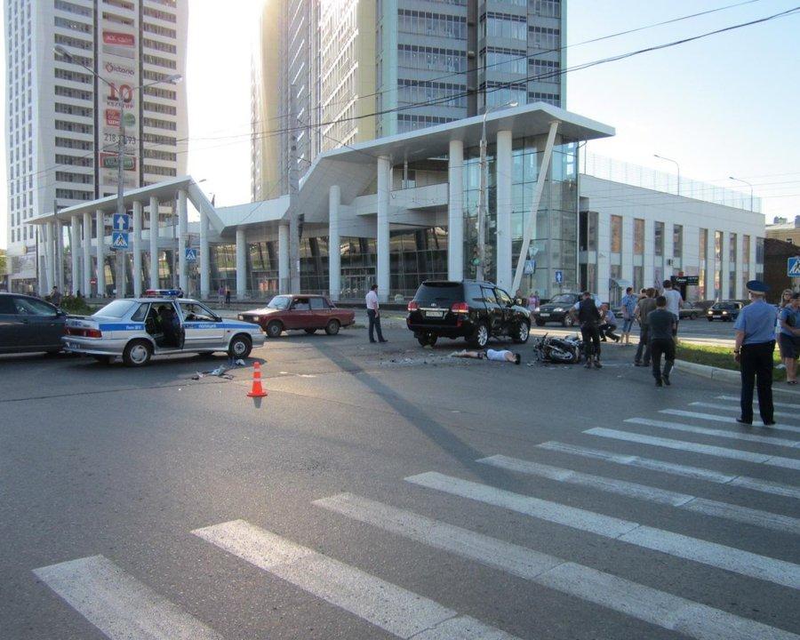 В Перми погиб мотоциклист, выехавший на красный свет