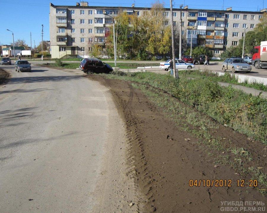 В Чернушке в съехавшей в кювет Ниве пострадал пассажир - фото 1