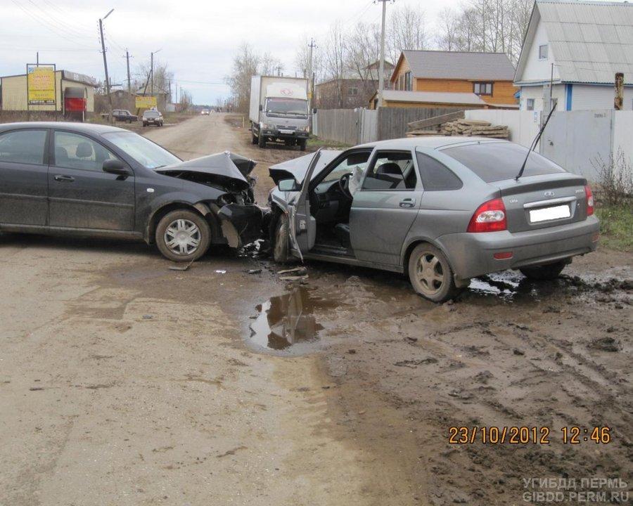 В Чернушке в лобовом столкновении пострадали водители двух автомобилей - фото 1