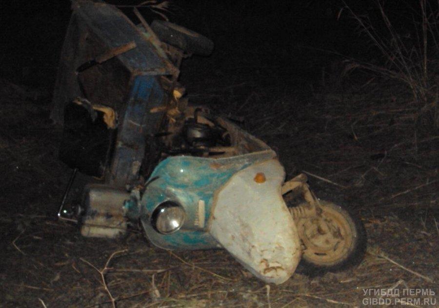 В Добрянском районе в ДТП погиб один и травмированы три человека