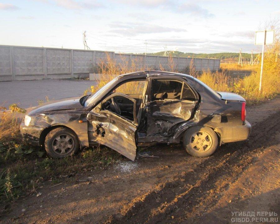 В Перми неудачный маневр водителя Акцента закончился в больнице