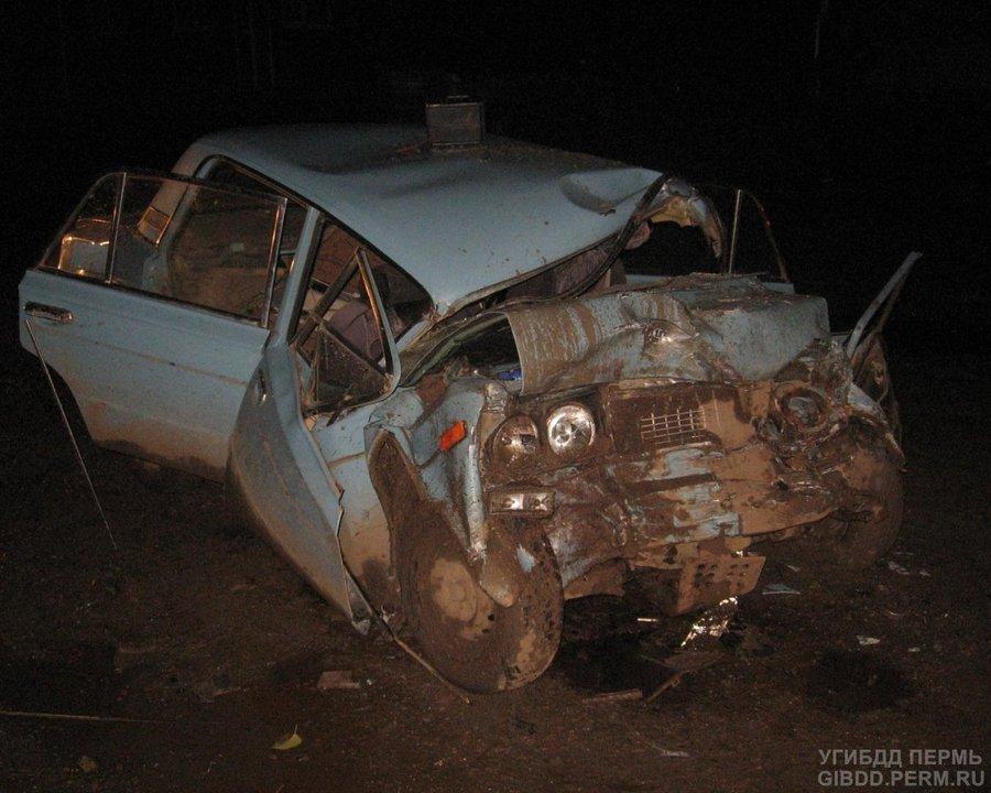В автоаварии в Кунгурском районе погибли два человека