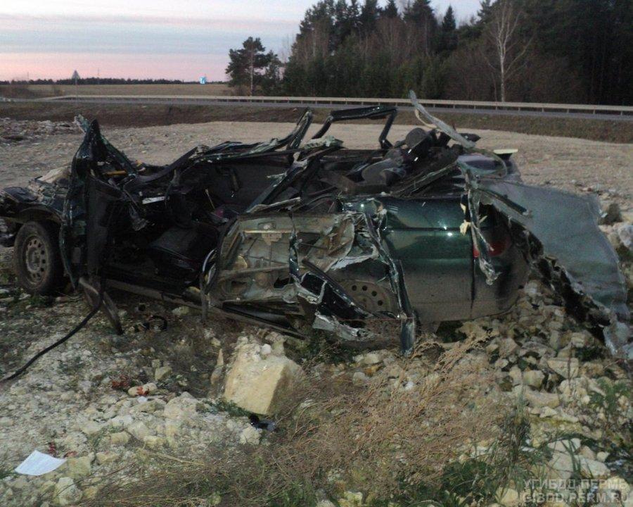 В Кунгурском районе в ДТП погибли водитель и пассажир «десятки» - фото 1