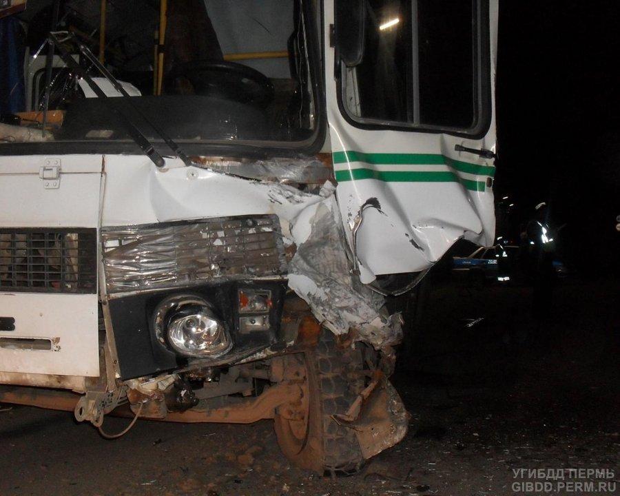 Сегодня в Лысьве Матиз столкнулся с автобусом