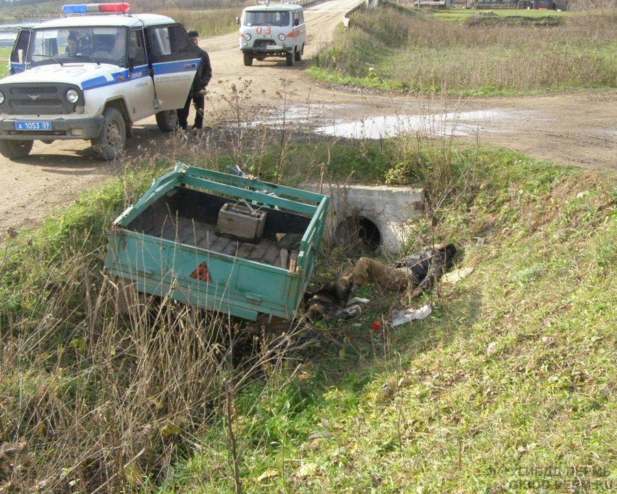 В Октябрьском районе погиб пассажир мотоцикла