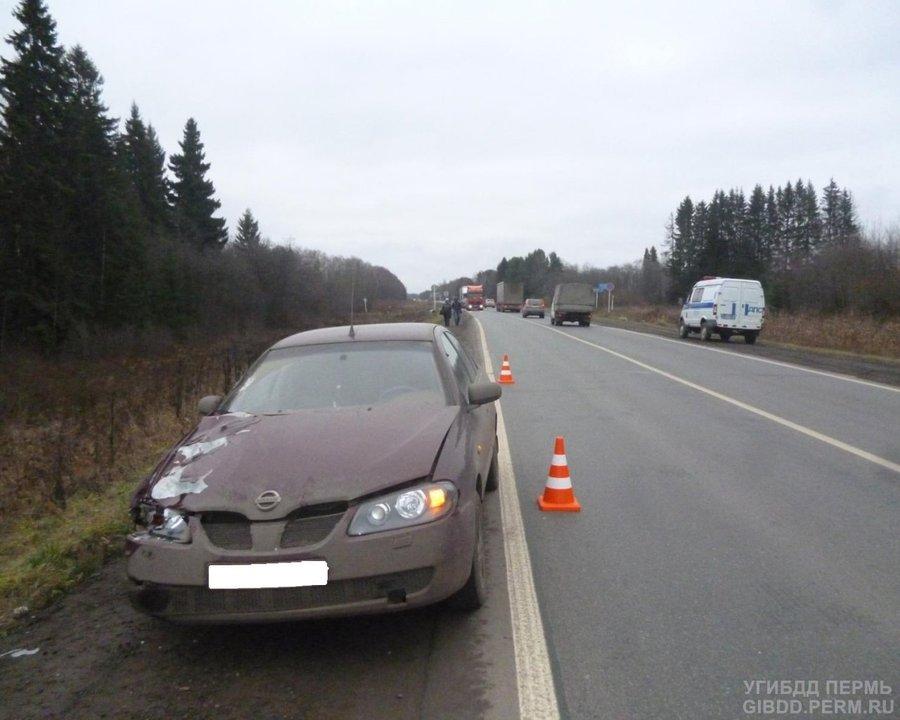 На федеральной трассе в Пермском районе погибла пенсионерка