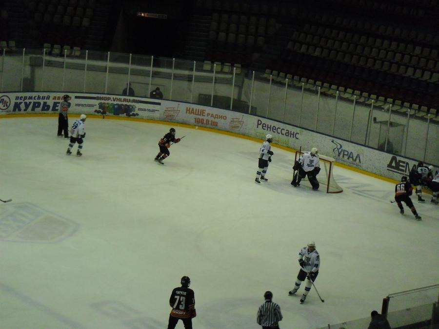 Судьба хоккейного матча «Октан» - «Снежные барсы» решилась в дополнительное  время