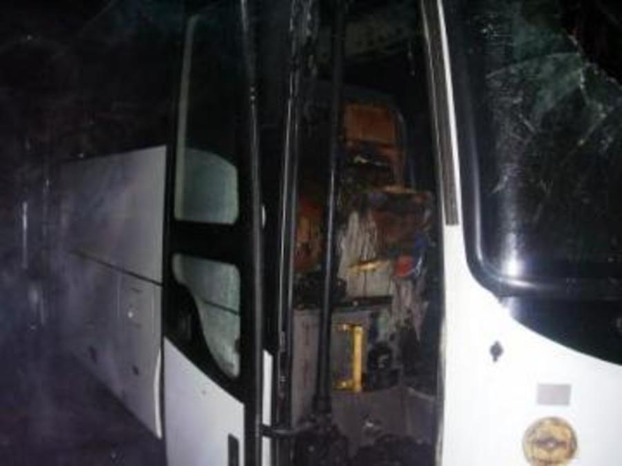 В Пермском крае загорелся автобус Соликамск - Пермь - фото 1
