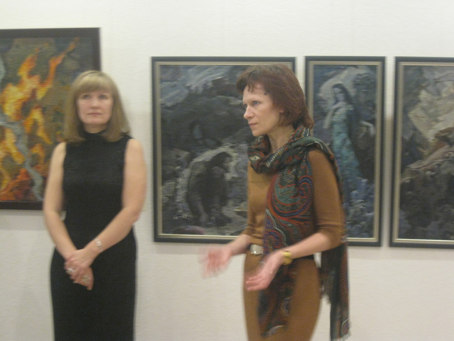 В галерее «Марис-арт» отметили 95-летие Петра Оборина