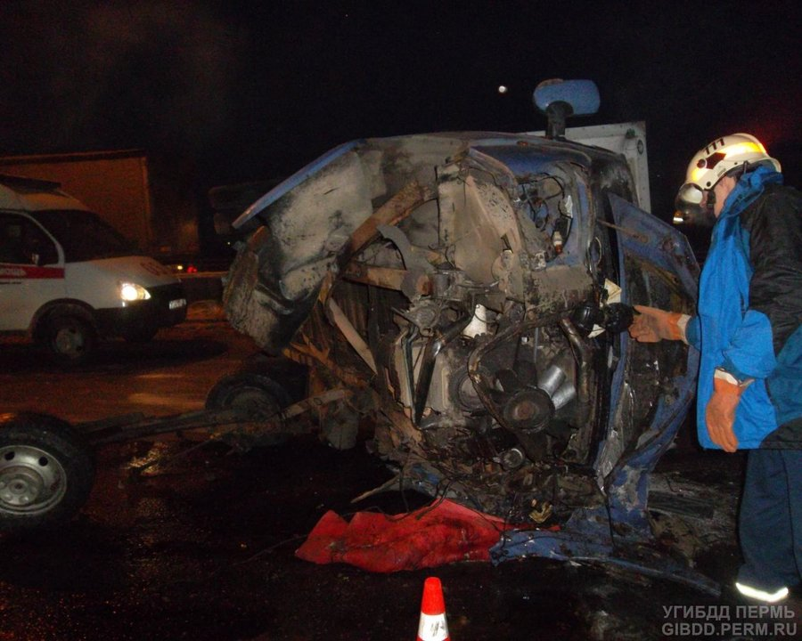 На Западном обходе Перми погиб водитель Газели