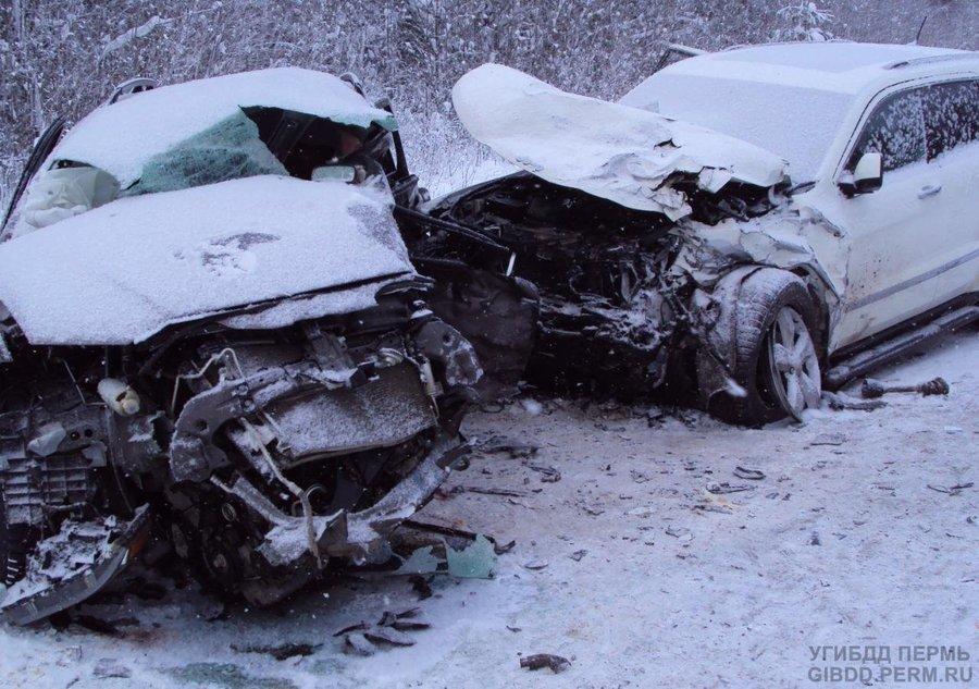 На трассе Пермь — Березники в ДТП погибли два человека