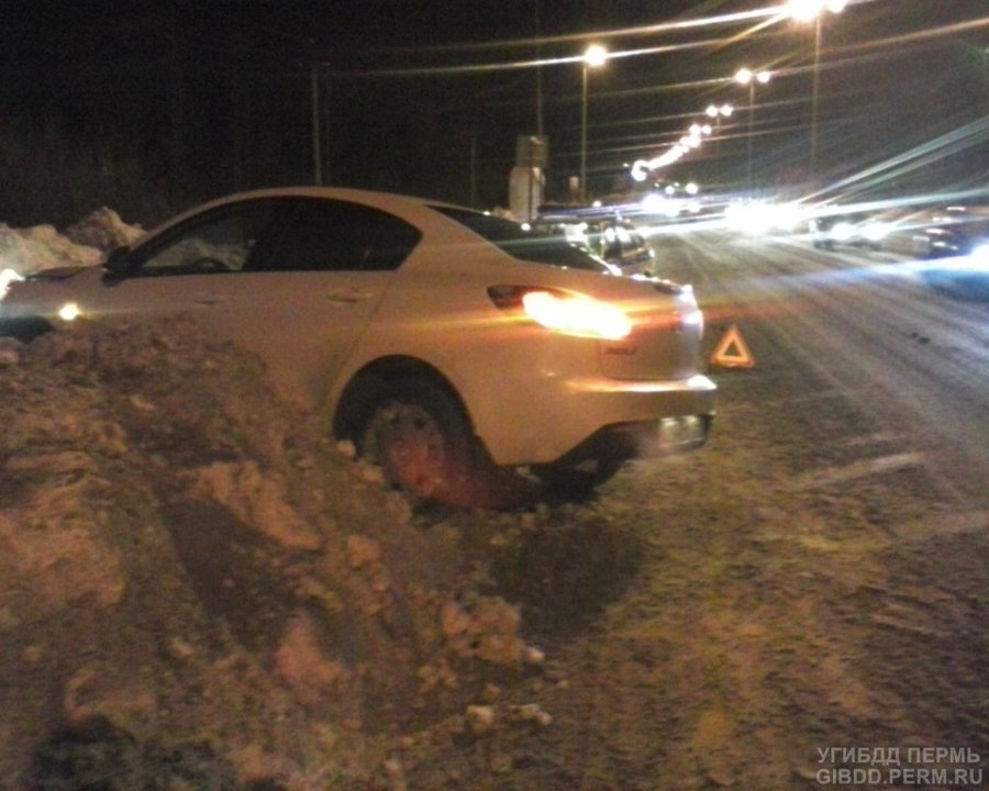 В Перми женщина на Мазде не осилила скоростную дорогу