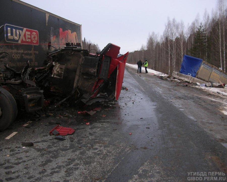 В Краснокамском районе погибли водители двух грузовиков