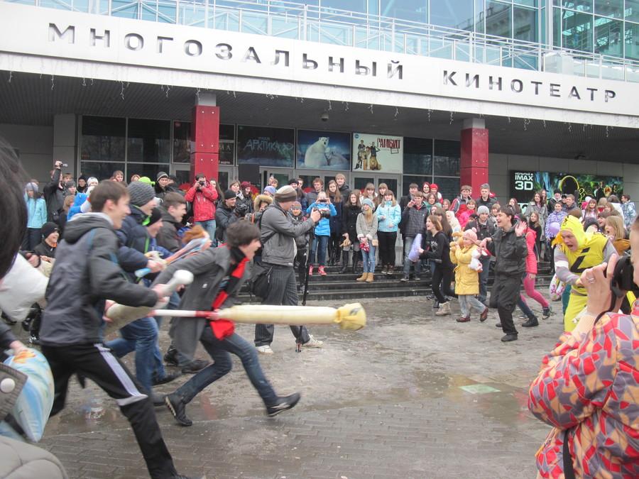 Пермские жители сражались против супергероев