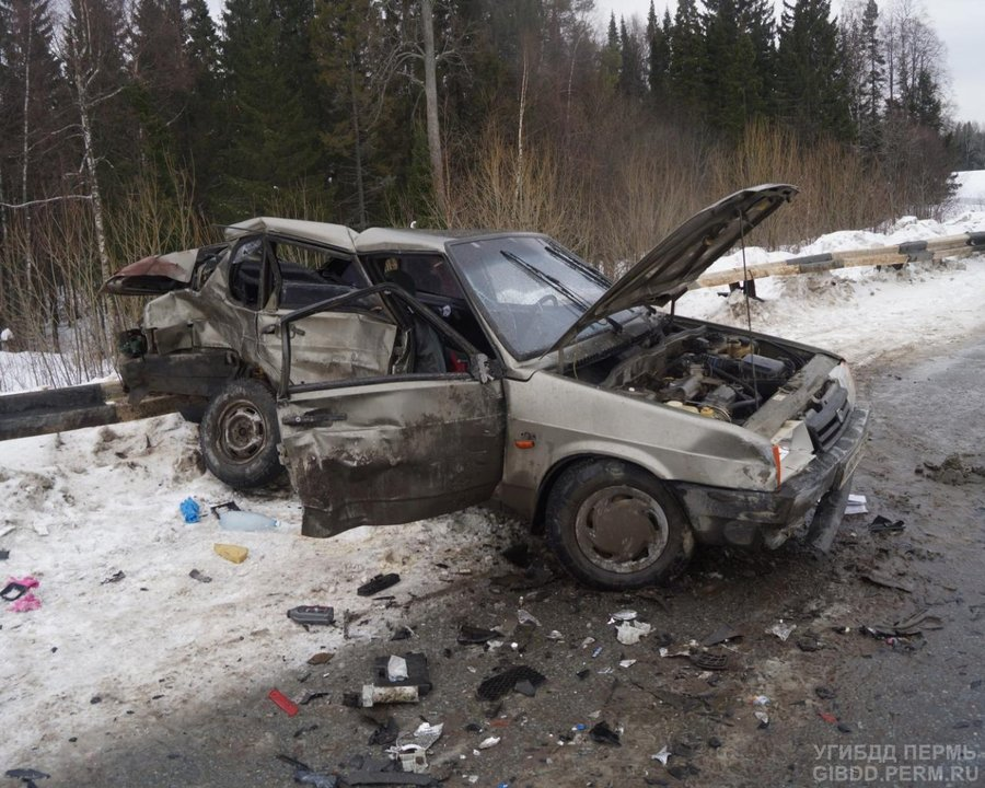 В Пермском районе мама-водитель и ее дочь  госпитализированы в тяжелом состоянии