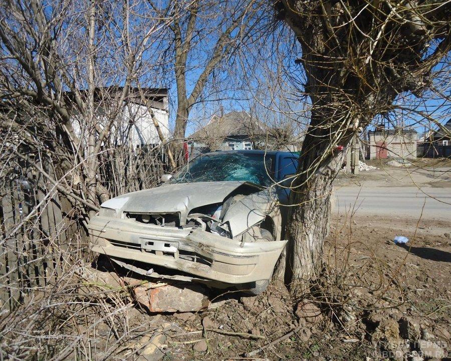 В Березниках Тойота Камри застряла между деревьями - фото 1