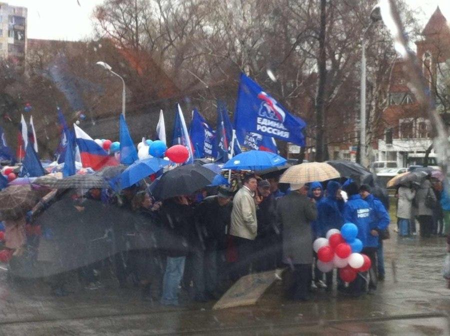Пермь: День трудящихся или флешмоб профсоюзных зонтиков