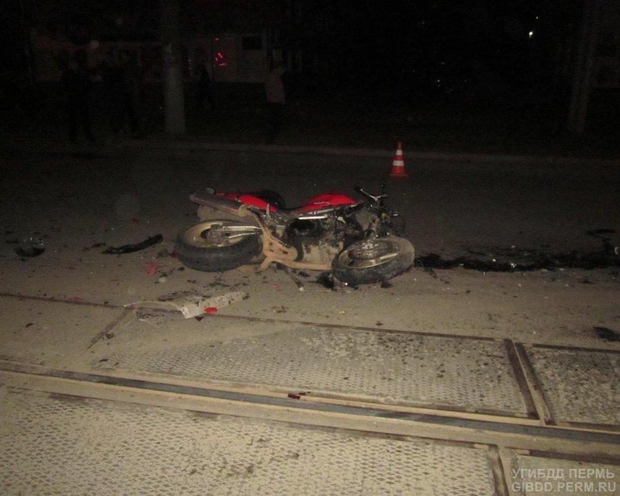 В Индустриальном районе Перми погиб мотоциклист