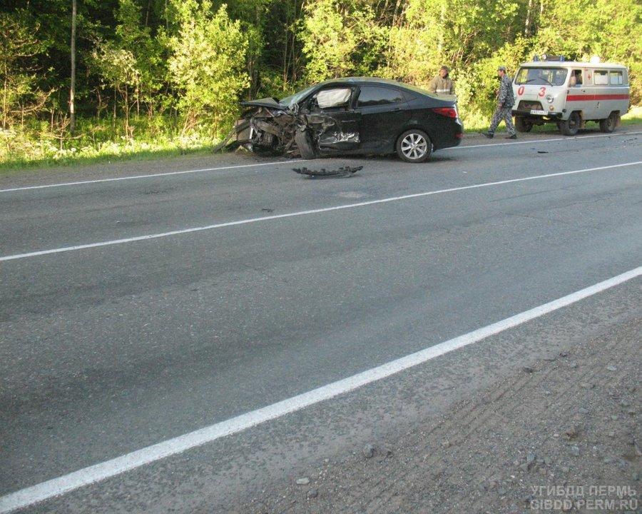 В ДТП в Очерском районе один водитель погиб, другой ранен - фото 1