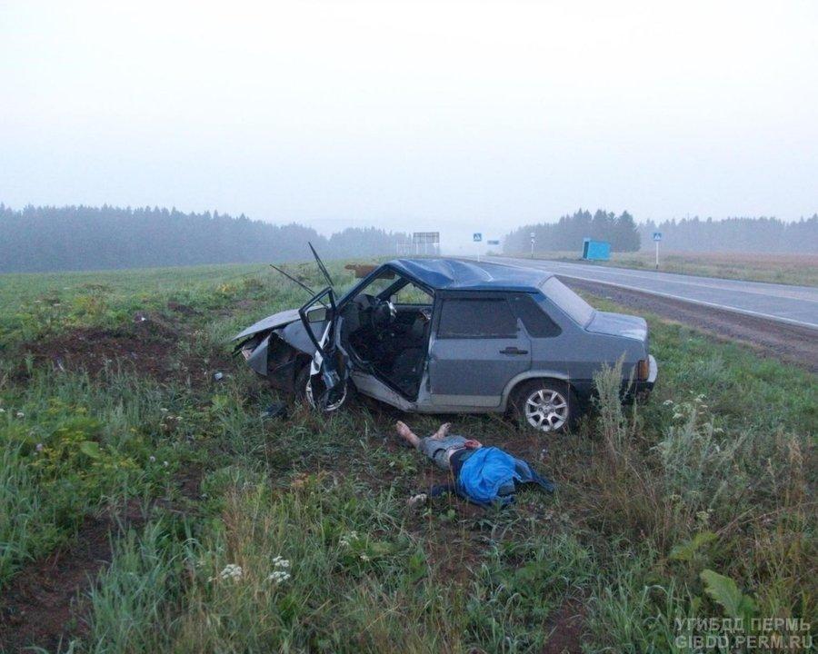В Большесосновском районе погиб водитель 99-ки