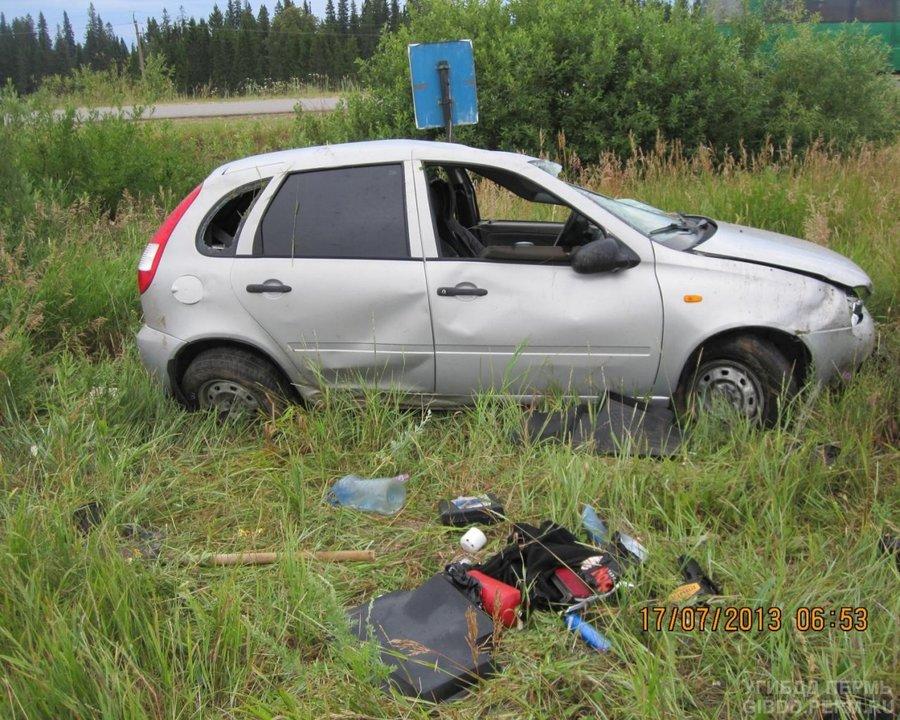 В Чернушинском районе в ДТП ранены две девушки