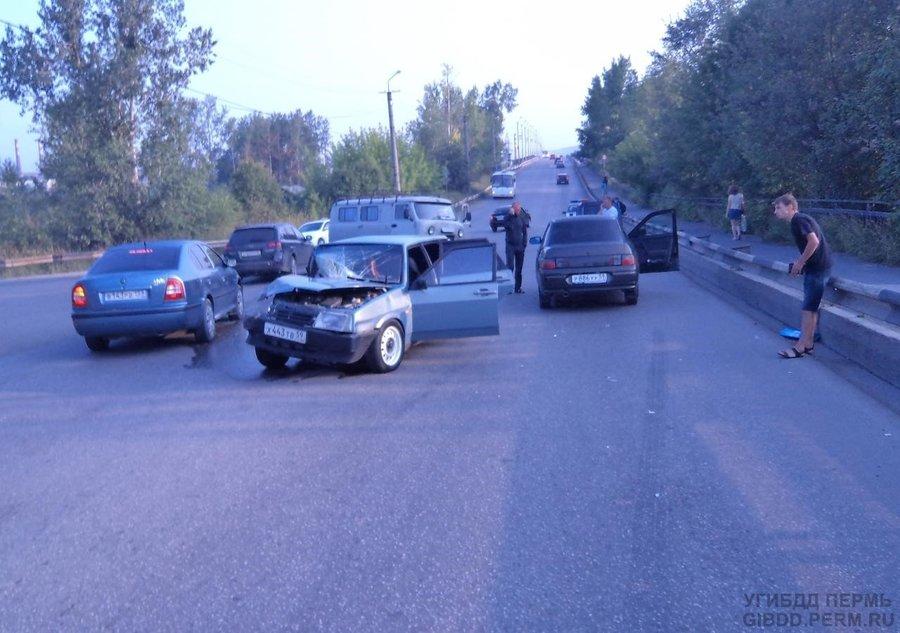 В Чусовом произошло ДТП с участием 4 автомобилей