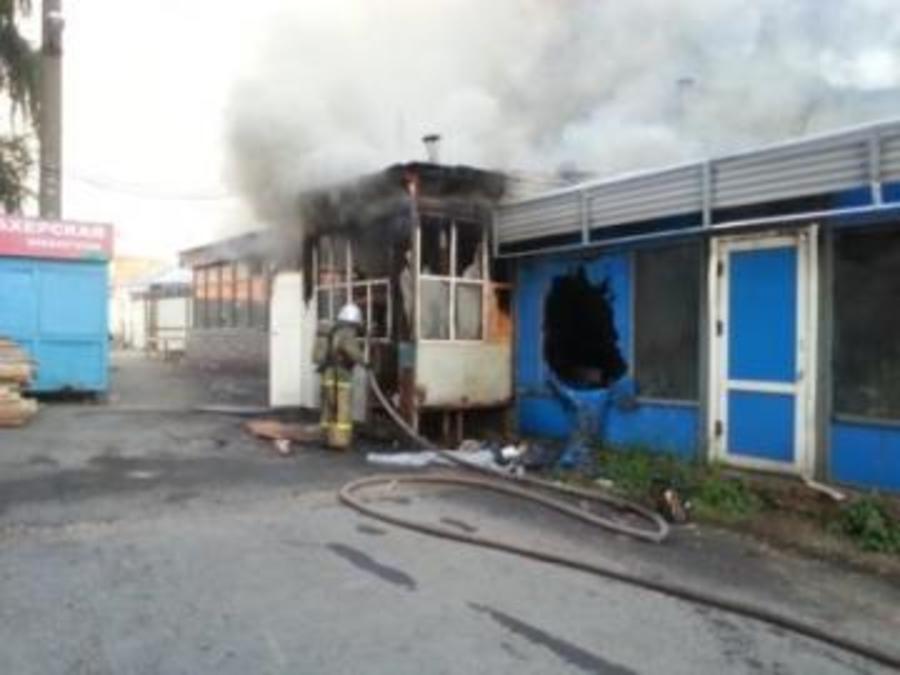 В центре Перми сгорело кафе