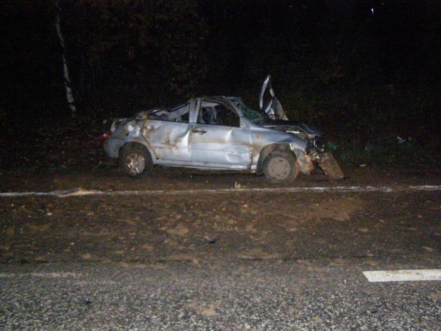 В Пермском крае в результате опрокидывания Калины погиб водитель