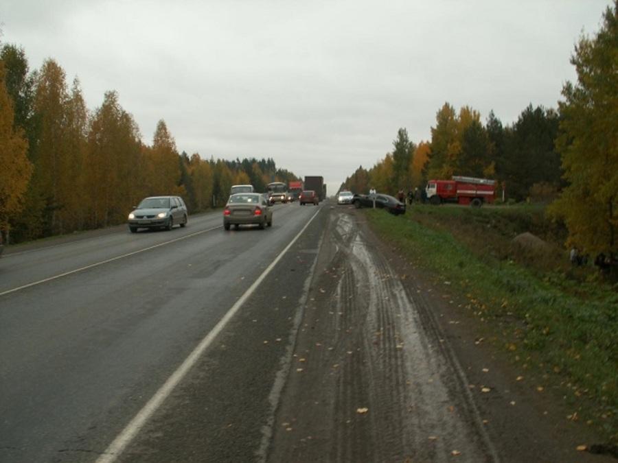 В Краснокамском районе Хонда Аккорд снесла с проезжей части «четверку»
