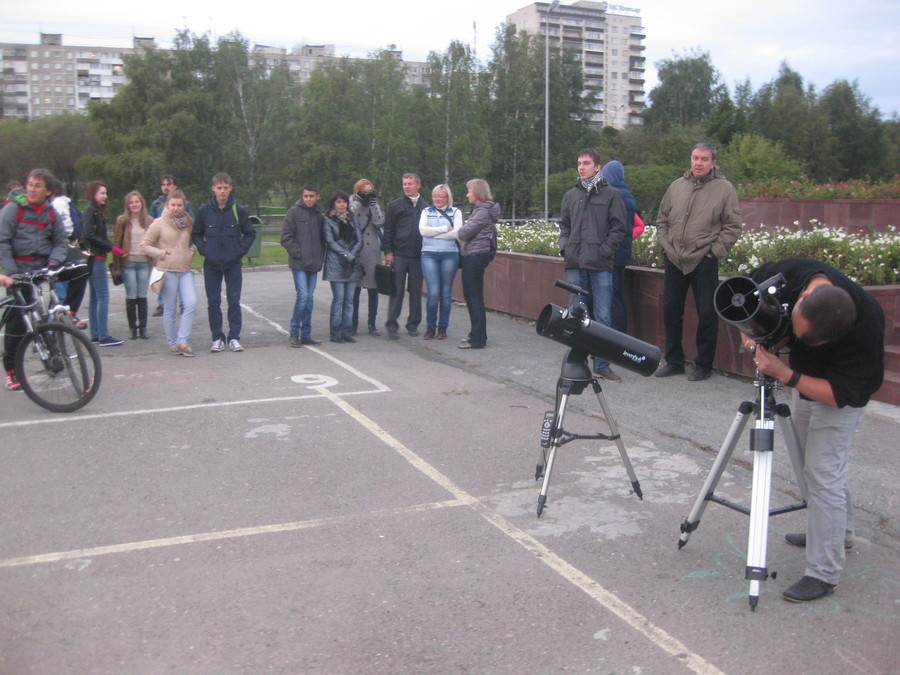 Пермяки смотрели в телескопы
