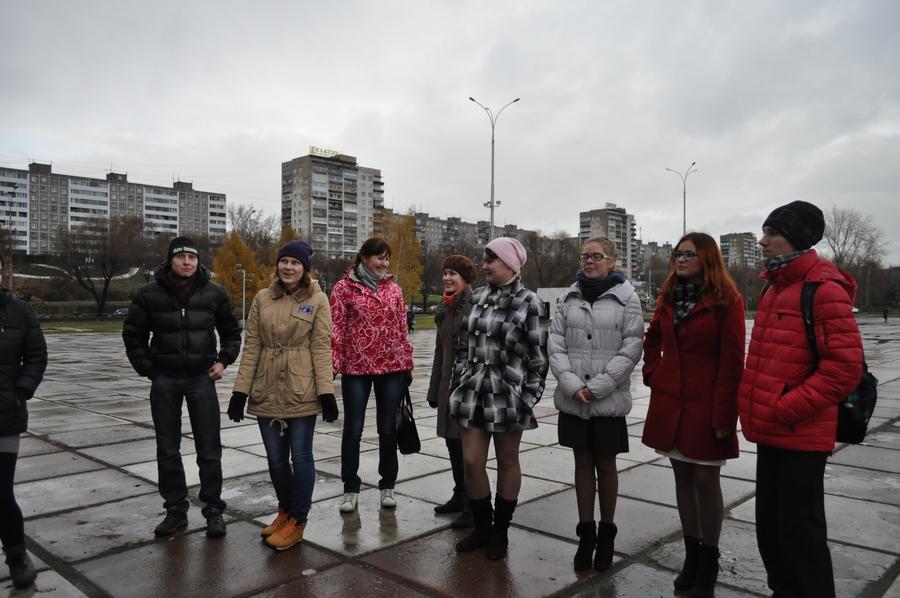 В Перми прошел флэшмоб, посвященный олимпиаде в Сочи - фото 1