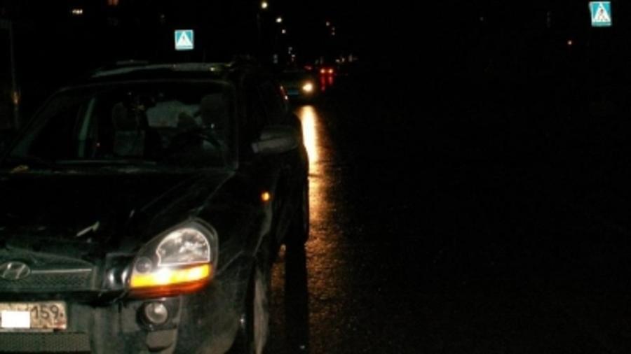 В Краснокамске водитель Хендая на переходе сбил пешехода с сыном