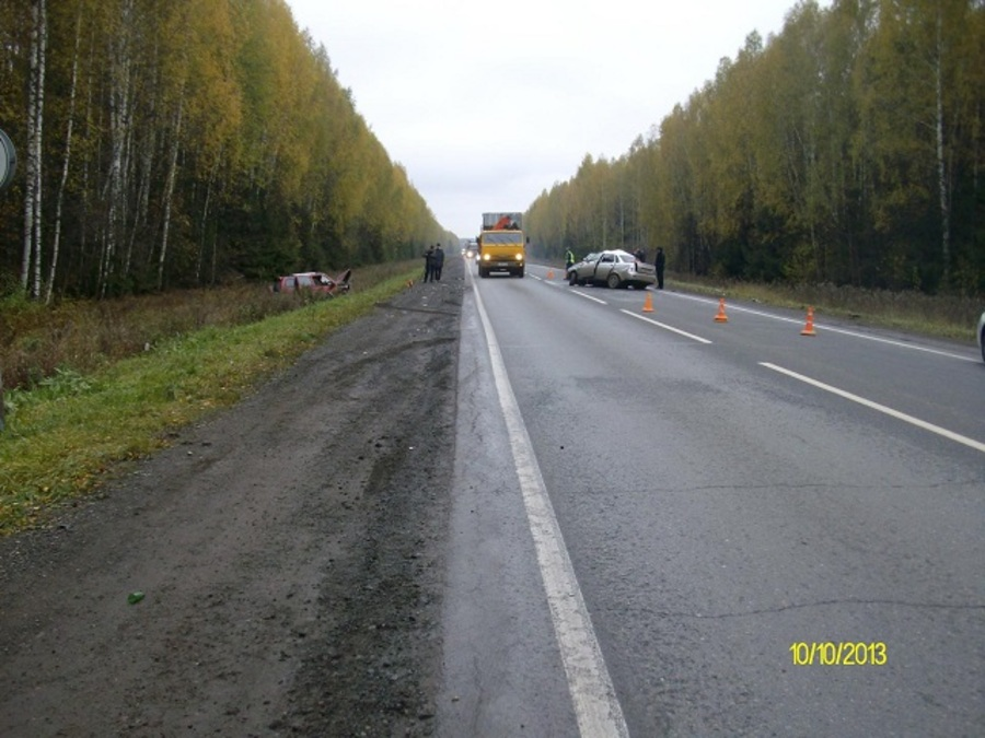 На трассе Пермь — Екатеринбург погибли два человека