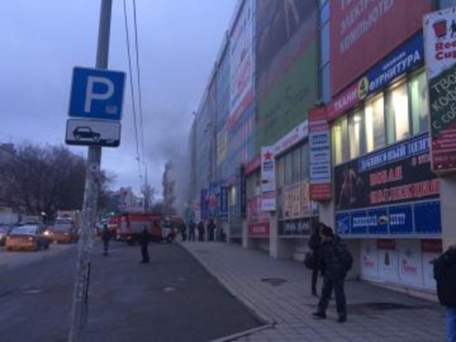 В центре Перми горит торговый центр «Алмаз»