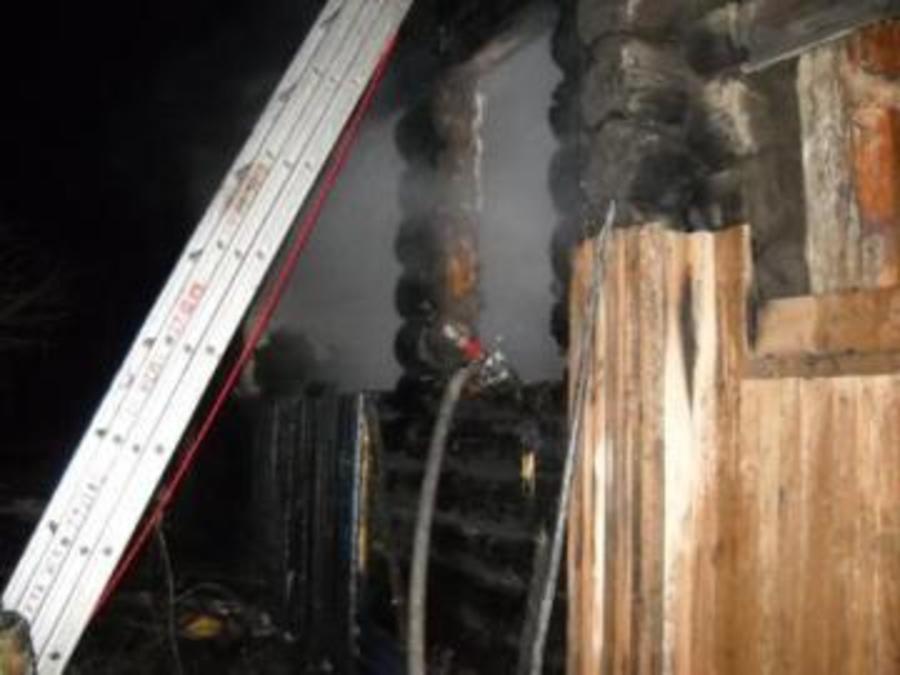 Сегодня ночью в Кунгурском районе  на пожаре погибли люди
