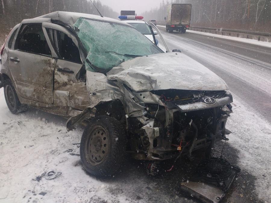 В ДТП в Краснокамском районе погибла девушка-водитель Калины - фото 1