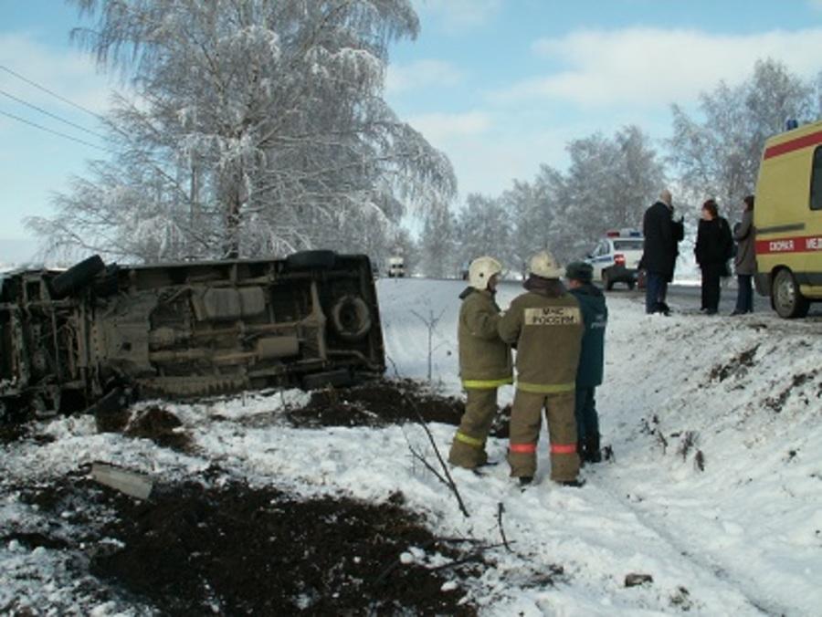 В Пермском крае перевернулся микроавтобус с членами общественной палаты