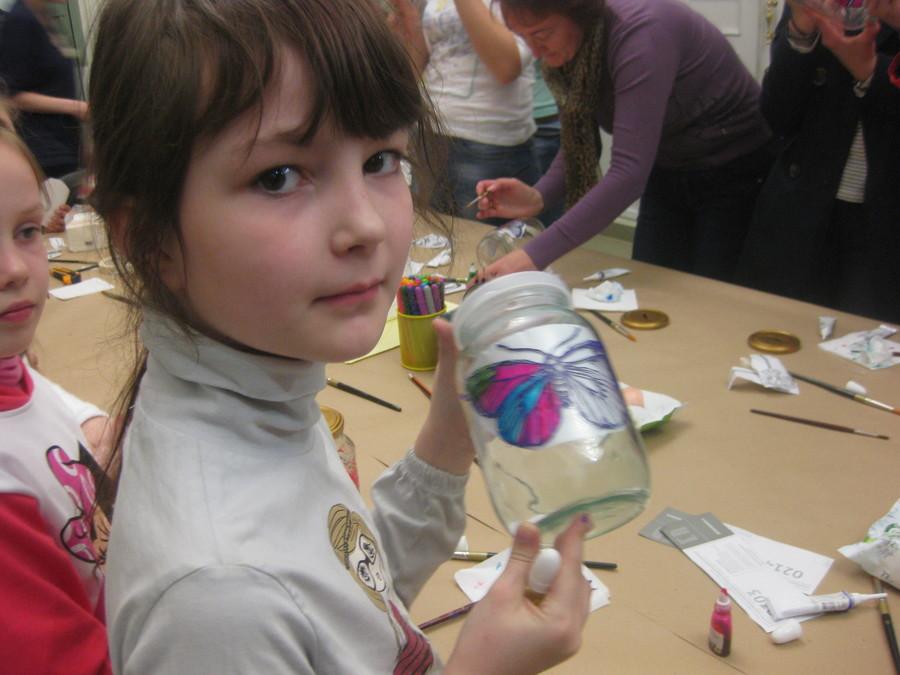 В Пермской галерее дети рисовали витражными красками - фото 14