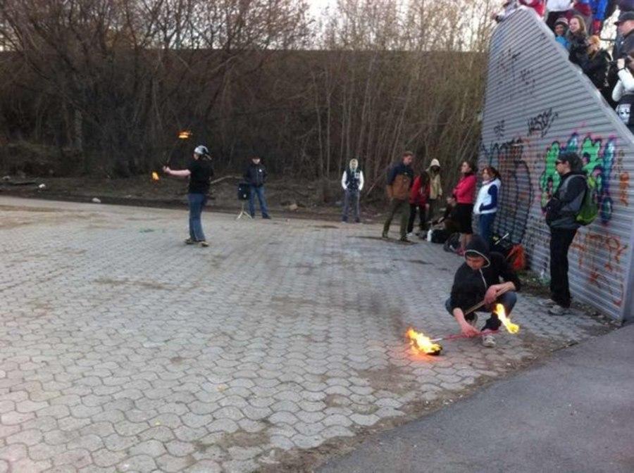 Огненное шоу согрело пермяков