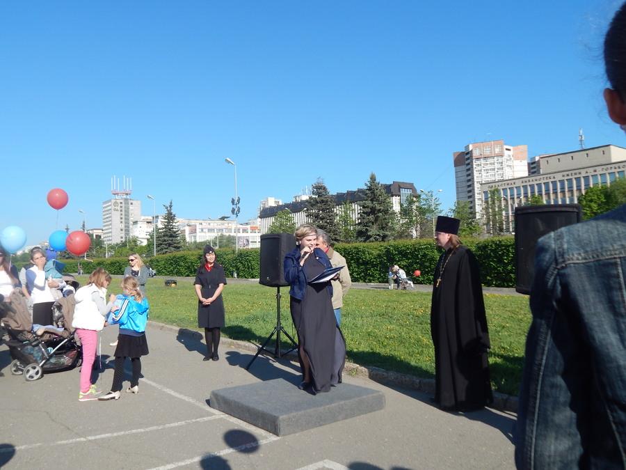 Пермские родители маршировали со своими малышами