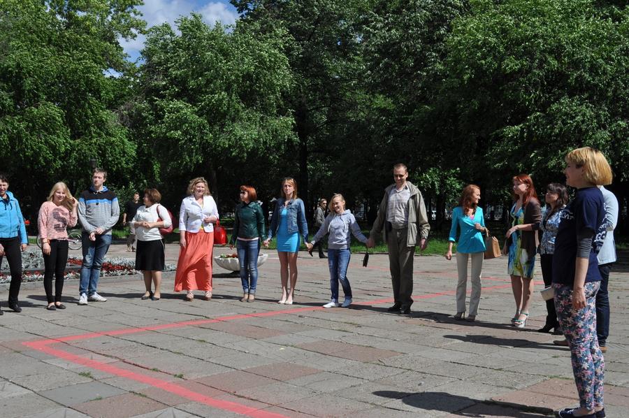 В Перми прошел флешмоб «Сердце города»