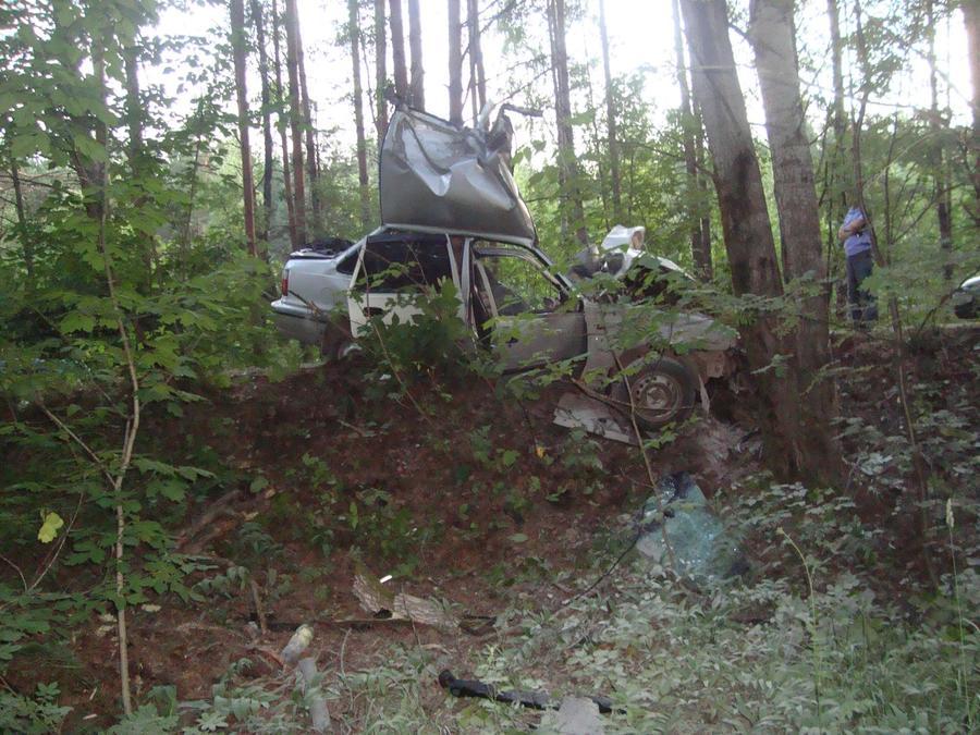 В Кировском районе Перми Нексия врезалась в дерево, водитель погиб - фото 1