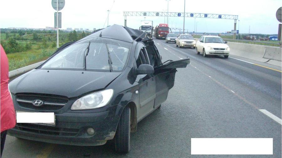 В Перми в столкновении фуры и Гетца погиб один человек, ранены двое