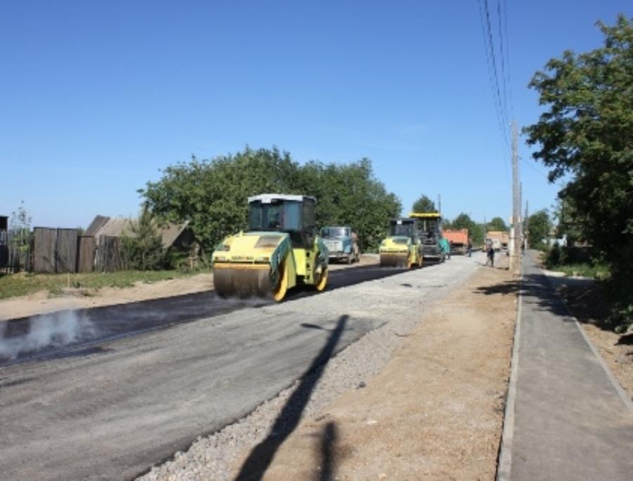 В Пермском районе идет реконструкция автодороги до деревни Гари