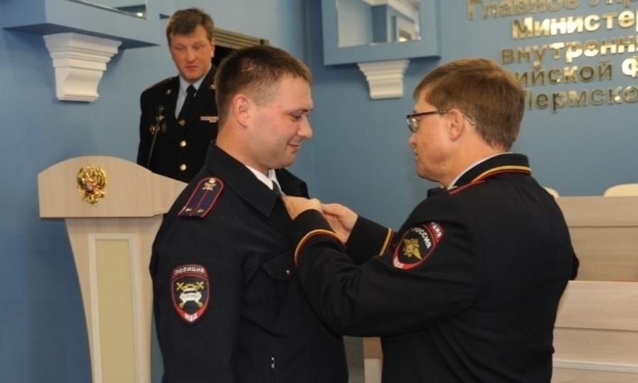 Пермский полицейский награжден за спасение на пожаре восьмерых человек