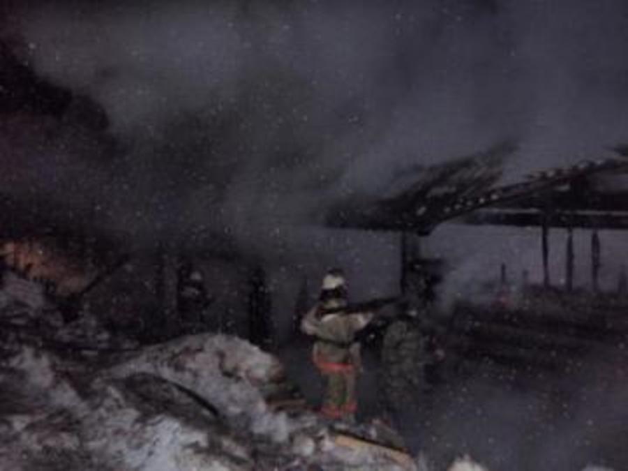 В Очерском районе сгорел жилой дом