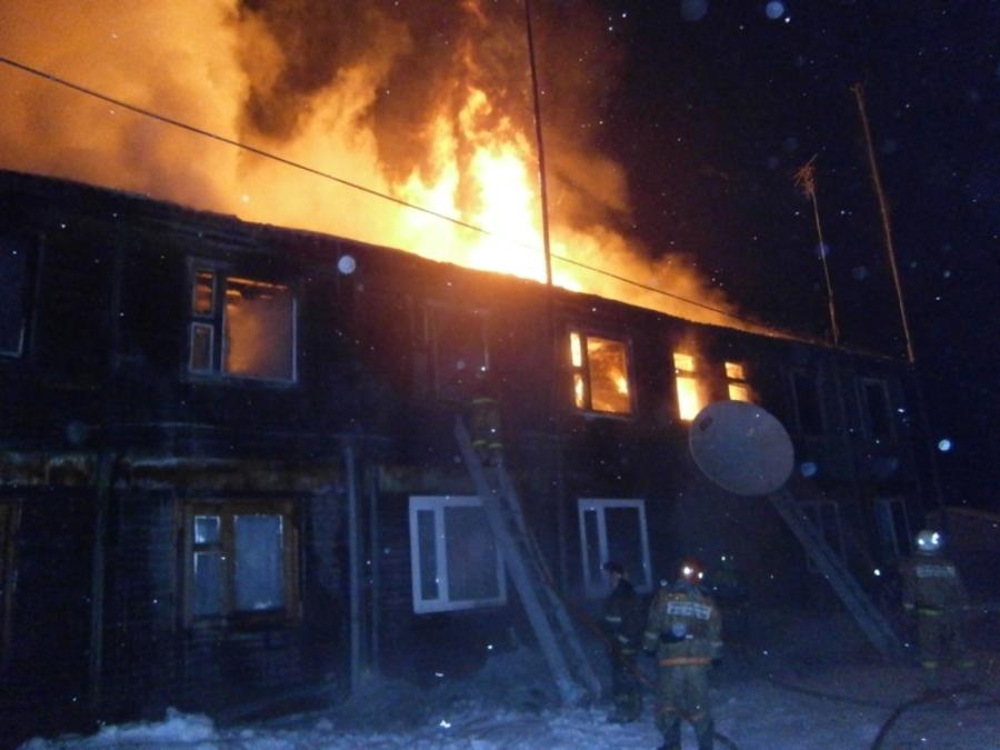 На ликвидацию пожара в Кудымкаре понадобилось около полутора часов